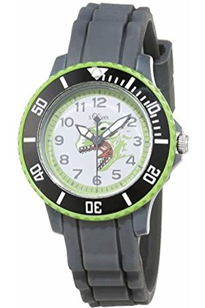 s.Oliver Watches - Unisex Child Analogue Quartz Watch with Silicone Strap SO-3763-PQ