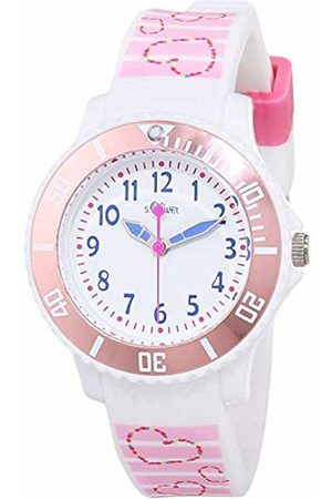 s.Oliver Unisex Child Analogue Quartz Watch with Silicone Strap SO-3762-PQ