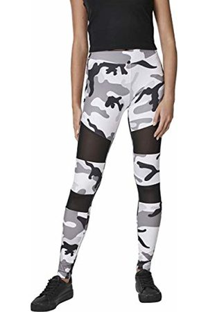 Urban classics Women's Ladies Camo Tech Mesh Leggings (Snowcamo 00708) 16 (Size: X-Large)