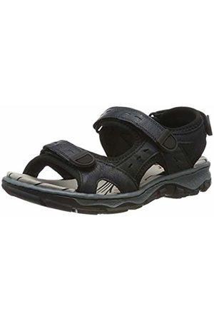 Rieker Women's 68872-16 Closed Toe Sandals Pazifik/Schwarz 16 8 UK