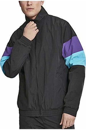 Urban classics Men's 3-Tone Crinkle Track Jacket ( /Ultraviolet/Aqua 01711)