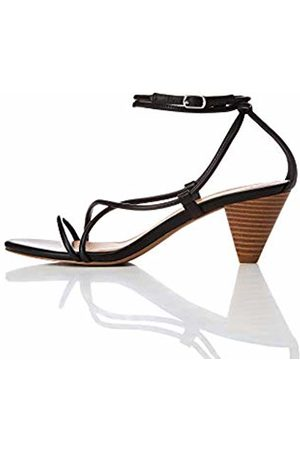 FIND Barely There Cone Heel Strappy Open Toe Sandals