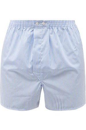 DEREK ROSE Men Boxer Shorts - Candy-striped Cotton-poplin Boxer Shorts - Mens