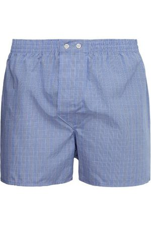 DEREK ROSE Classic Fit Checked Cotton Boxer Shorts - Mens