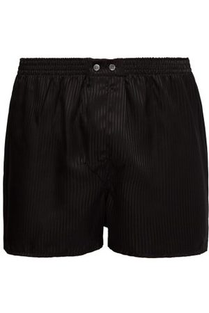 DEREK ROSE Woburn Satin-striped Silk Boxer Shorts - Mens - Multi