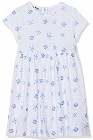 MEK Baby Girls Abitino Jersey Fantasia Dress, (Optical 01 001)