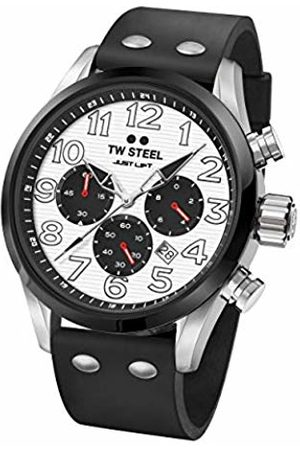 TW steel Watches - Unisex Adult Chronograph Quartz Watch with Silicone Strap TW986
