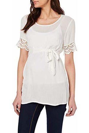 Mama Licious Women's Mljanilla S/s Woven Top Maternity Vest Snow