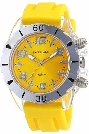 Excellanc Men's Quartz Watch LED Collection 225724000005 with Rubber Strap