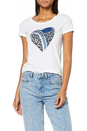 GAS Jeans Women's Hanika Heart Logo T-Shirt, ( 0001)