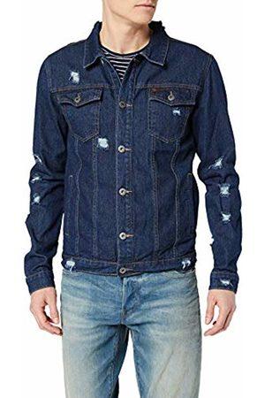 Soul Star Men's AZ02 Denim Button Front Long Sleeve Denim Jacket
