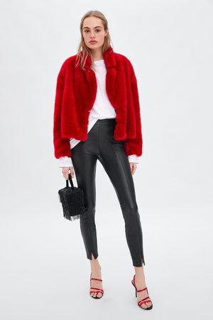 Zara FAUX LEATHER LEGGINGS