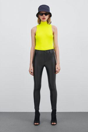 Zara Coated high waist leggings