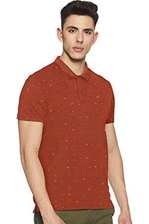 Scotch&Soda Men's Classic Garment-Dyed Pique Polo with All-Over Print Shirt Large