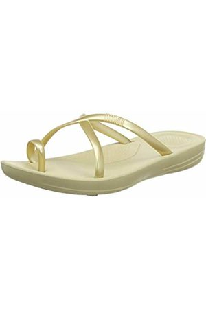 FitFlop Women's Prima Iqushion Cross Slide-Pearlised Flip Flops