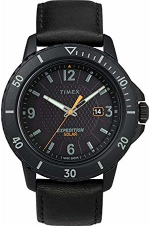 Timex Mens Analogue Classic Solar Powered Watch with Leather Strap TW4B14700