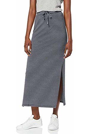 Object Women's Objstephanie Maxi Skirt Noos Stripes: Sky Captain with
