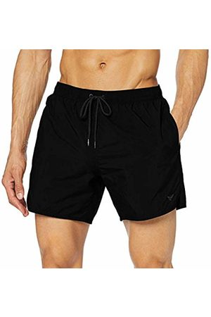 Emporio Armani Men's swimming shorts (Nero 00020) Large (Manufacturer size: 52)