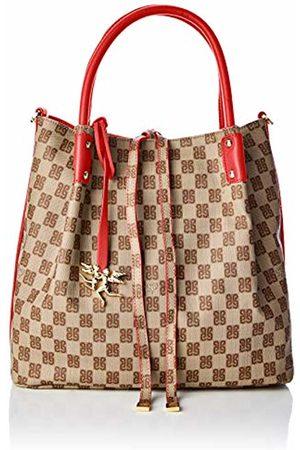 PIERO GUIDI Reversible Hobo Bag, Women's Shoulder (Rosso Papavero)