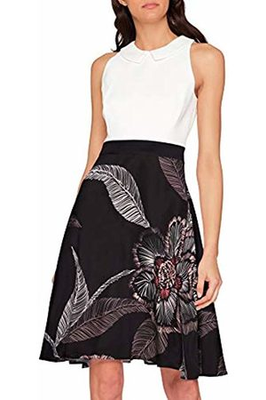 Comma, Women's 8t.902.82.5925 Dress, Multicoloured Large AOP Flower 99c3