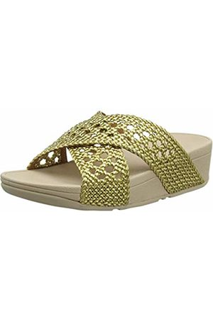 FitFlop Women's Twine LULU Slide Open Toe Sandals, (Artisan 667)