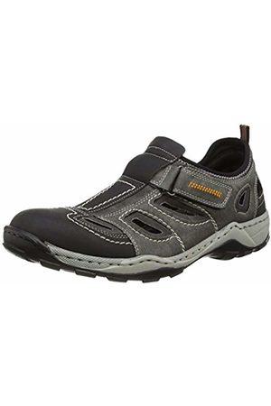 Rieker Men's 08075-03 Low-Top Sneakers, (Schwarz Rauch)
