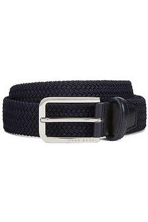 HUGO BOSS Men Belts - Woven belt with polished metal hardware