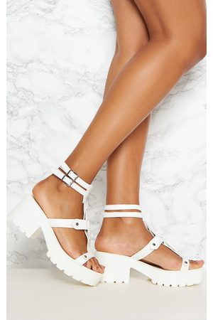 PRETTYLITTLETHING Sandals - Ring Detail Gladiator Chunky Sandal