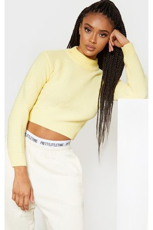 PRETTYLITTLETHING Jumpers & Sweaters - Pastel Ribbed Cropped Knitted Jumper