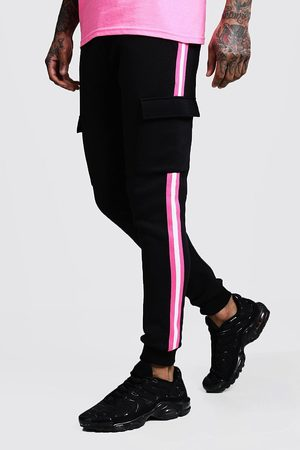 Boohoo Neon Tape Detail Cargo Skinny Fit Jogger