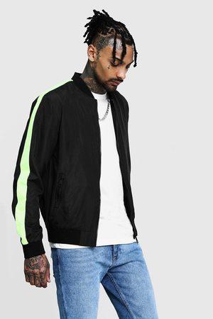 Boohoo Neon Side Tape Bomber Jacket