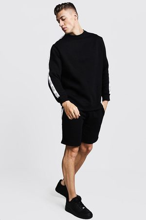 Boohoo Original MAN Tape Sweater Short Tracksuit