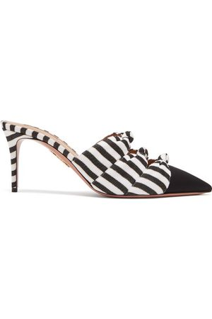 Aquazzura Women Sandals - Mondaine 75 Striped Mules - Womens