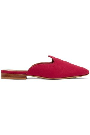 Le Monde Beryl Venetian Backless Linen Loafers - Womens