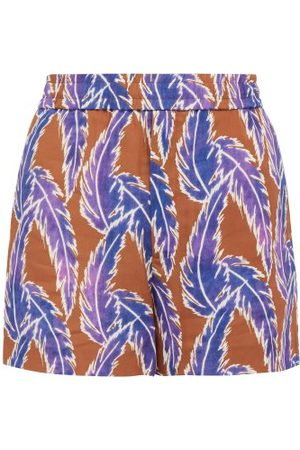 You As Men Shorts - Orion Leaf Print Twill Shorts - Mens
