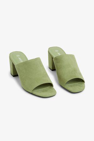 Monki Faux suede mule sandals