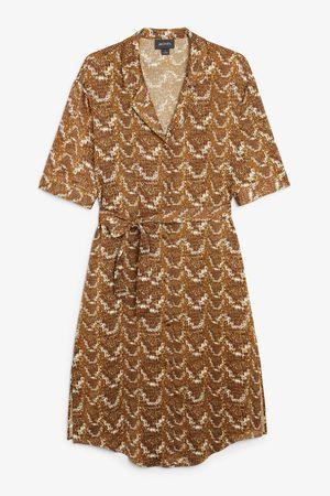 Monki Women Casual Dresses - Tie-waist shirt dress