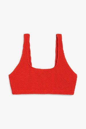 Monki Shirred bikini top