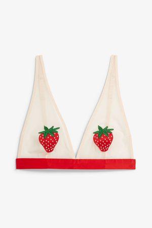 Monki Triangle mesh bra