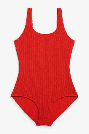 Monki Shirred swimsuit