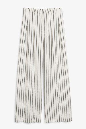 Monki Wide high-waist trousers