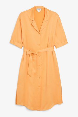 Monki Tie-waist shirt dress