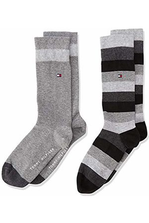 Tommy Hilfiger Boy's TH KIDS BASIC STRIPE SOCK 2P Striped Calf Socks