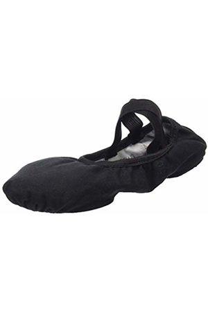 So Danca Women's Sd16 Wide (C Fit) Stretch Canvas Ballet ShoeBlack
