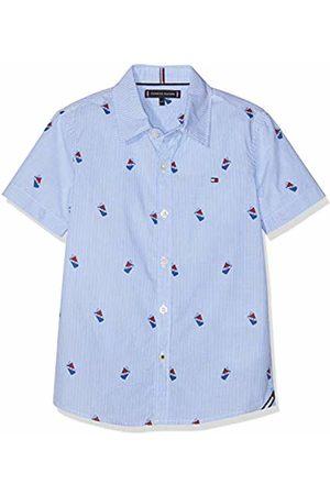 Tommy Hilfiger Boy's Mini Stripe Print Shirt S/s Blouse Bright 123