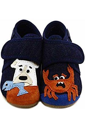 Living Kitzbühel Baby Boys' Babyklettschuh Bär Und Krabbe Slippers