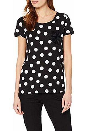 Comma, Women's 88.904.32.3372 T-Shirt, Mehrfarbig / Dots 99m0