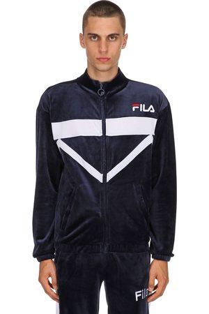 Fila Men Summer Jackets - Nixon Cotton Blend Velour Track Jacket