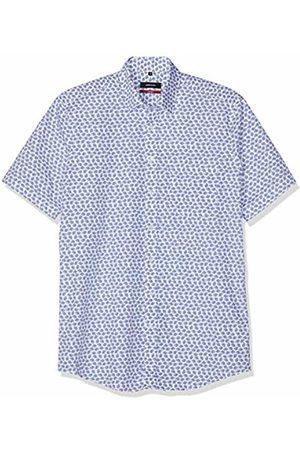 Seidensticker Men's Modern Kurzarm Mit Verdecktem Button-Down Kragen Soft Floralem Druck Formal Shirt