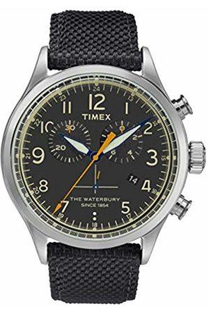 Timex Mens Chronograph Quartz Watch with Leather Strap TW2R38200